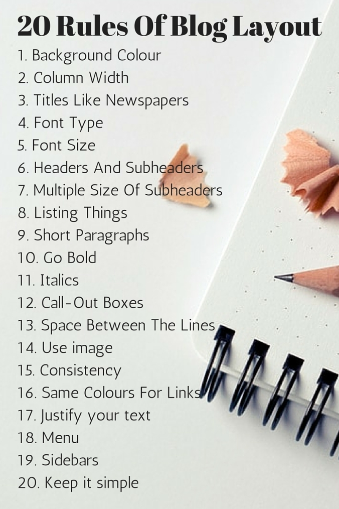 20 Rules Of Blog Layout (2)