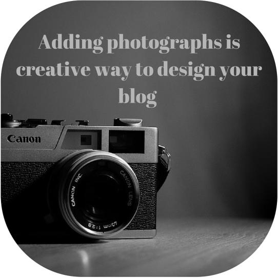 photographs blog layout