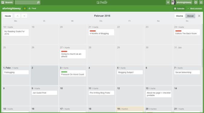 Trello Blog planner