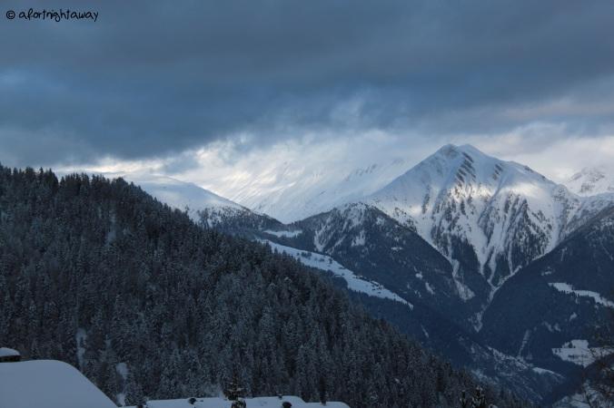 half light, mountains, swiss alps
