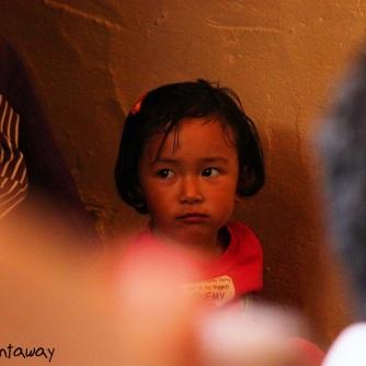 face, little girl, Tibetan monastic community